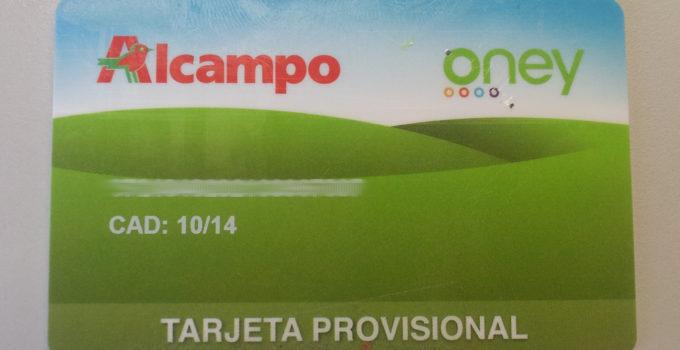 Tarjeta Alcampo Oney