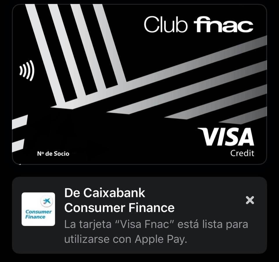 Tarjeta Visa de Fnac