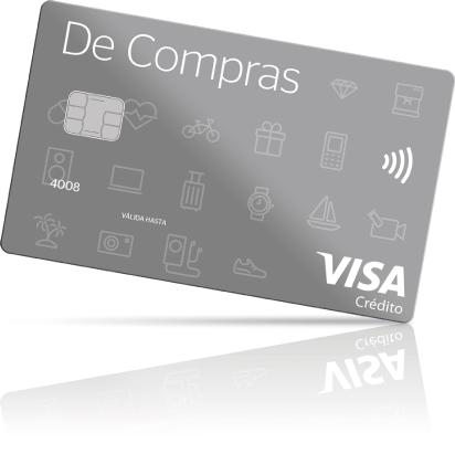 Tarjeta Visa de compras